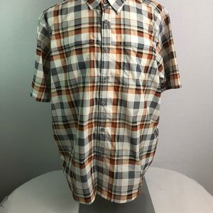 Wrangler short sleeve plaid shirt Sz XL